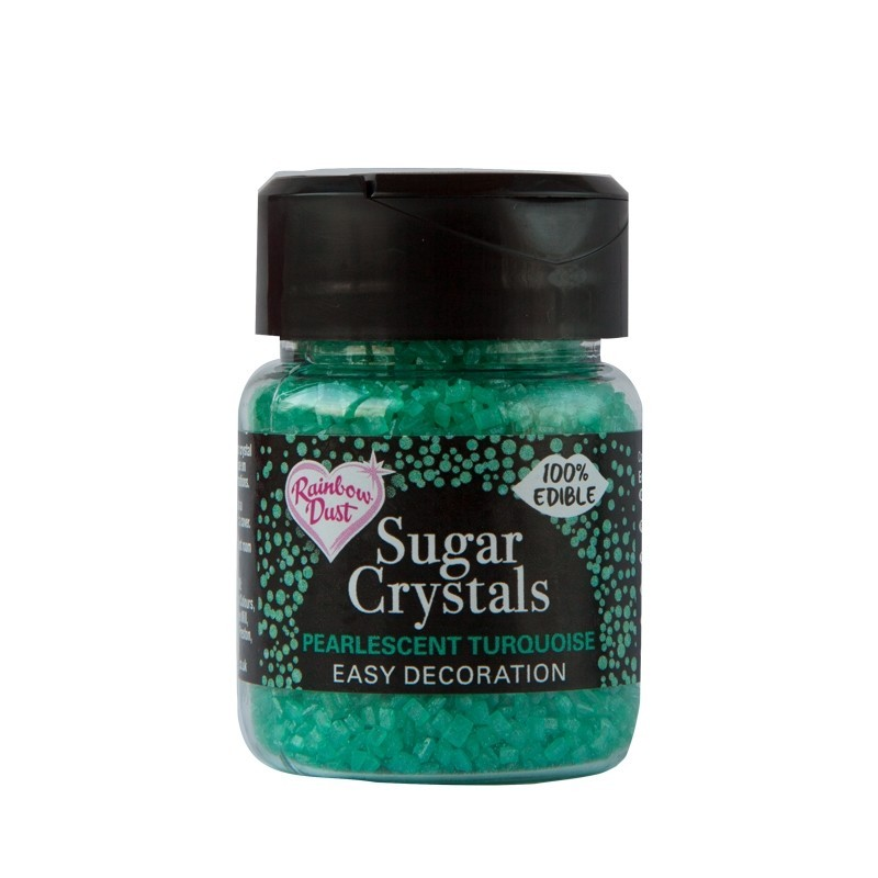 RD Sparkling Sugar Crystals - Pearlescent Turquoise