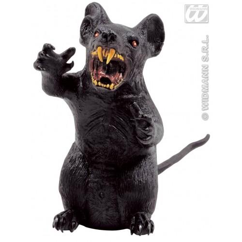 Dekor, Skummel rotte, 34cm