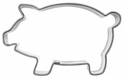 Pepperkakeform gris stor - 8 cm