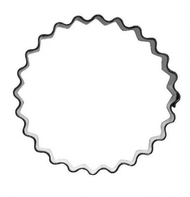 Pepperkakeform bølgete rund - 5,5 cm