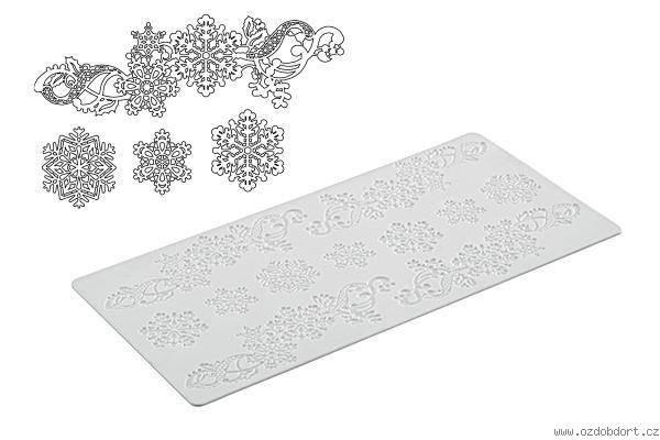 Silikomart Cake Lace silikonmatte -Snøkrystaller-