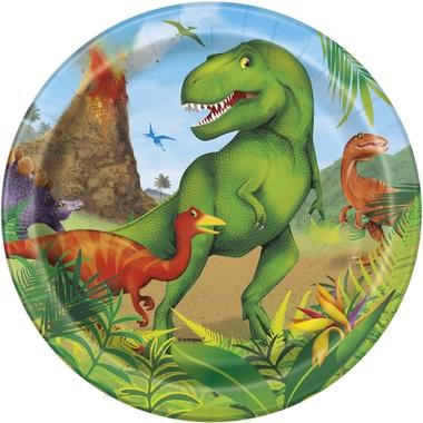 Engangsfat Dinosaur, 18cm, 8stk