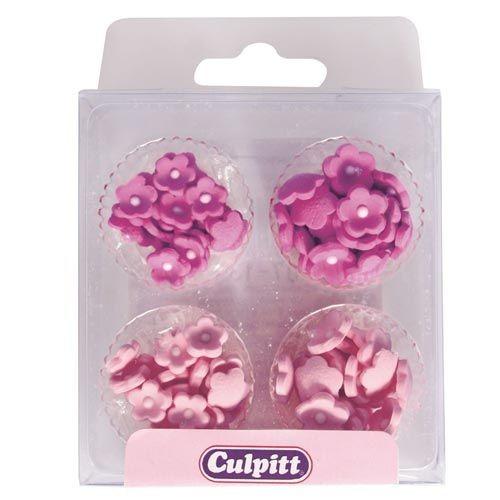 Culpitt Spiselig kakepynt Små rosa blomster pk/100