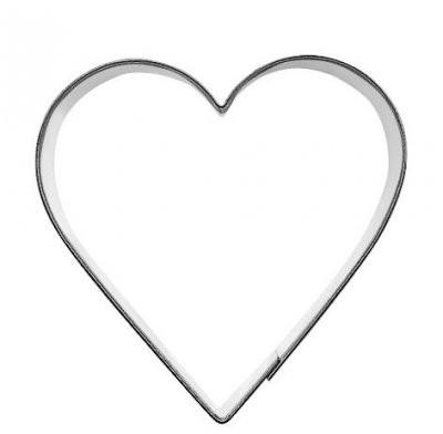 Pepperkakeform hjerte M - 8 cm