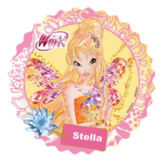 Kakebilde sukkerark Winx -Stella- 21cm