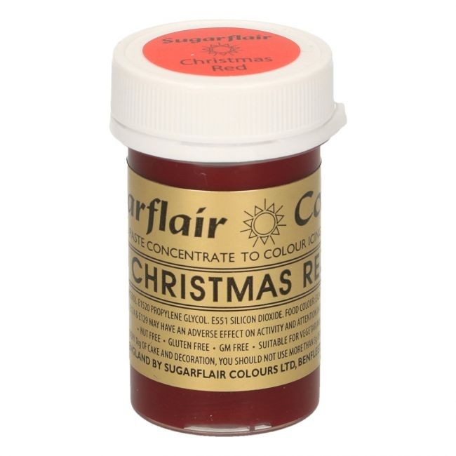 Sugarflair pastafarge Christmas Red, 25g