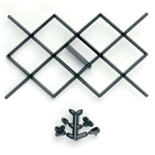 Patchwork utstikker Diamantdesign
