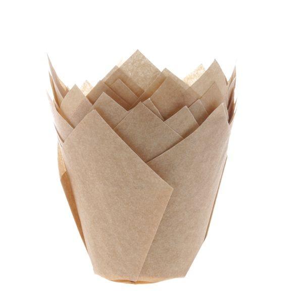Ubleket muffinsform tulipan fra House of Marie pk/36