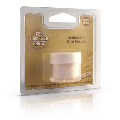 Edible Silk Irridescent Gold Fusion