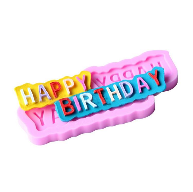 Silikonform mold Happy Birthday