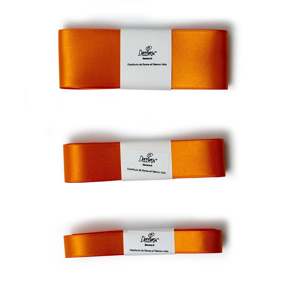 Satengbånd, Oransje -15mm- 5m