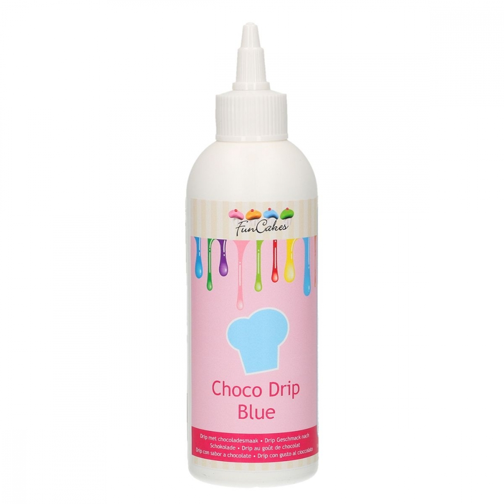 FunCakes Choco Drip -Blå- 180g