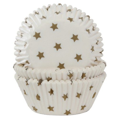 House of Marie Muffinsform - Star Gold 50pk