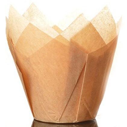 Culpitt Tulipan muffinsform Caramel, 50 stk