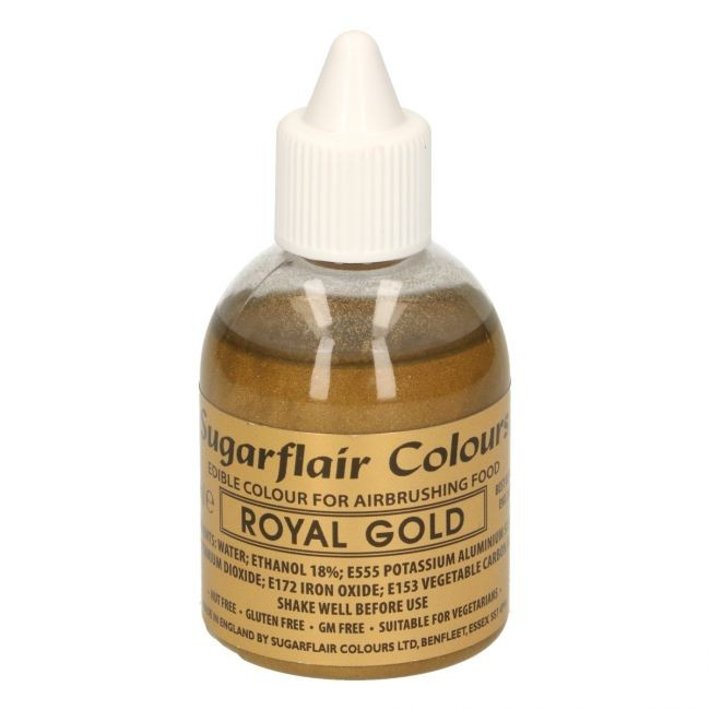 Sugarflair Airbrushfarge -Kongelig gull- 60ml