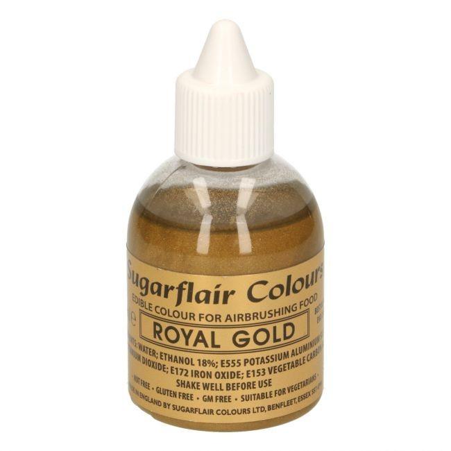 Sugarflair Airbrushfarge -Kongelig gull- 60ml