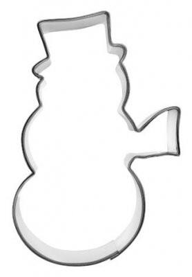 Pepperkakeform snømann stor - 10,5 cm