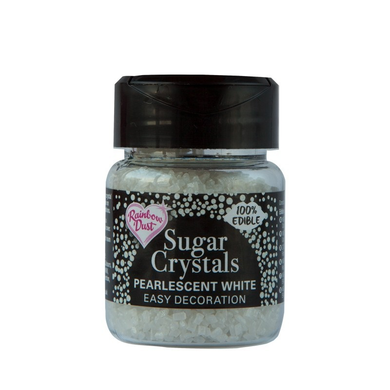 RD Sparkling Sugar Crystals - Pearlescent White