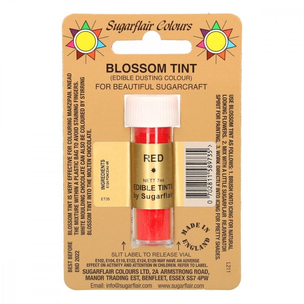 Sugarflair pulverfarge Red, 7ml