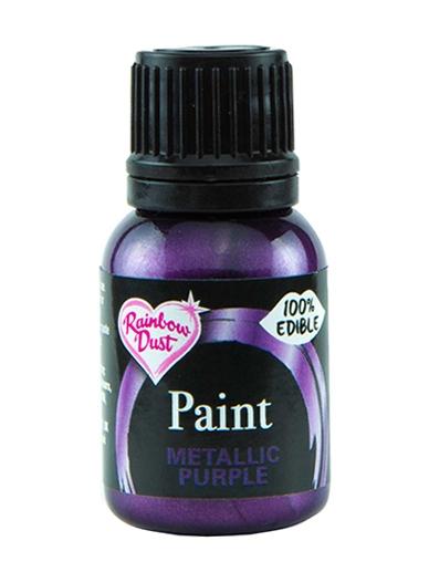 Spiselig maling Metallic Purple 25ml