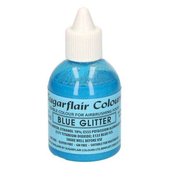 Sugarflair Airbrushfarge -Glitter blå- 60ml