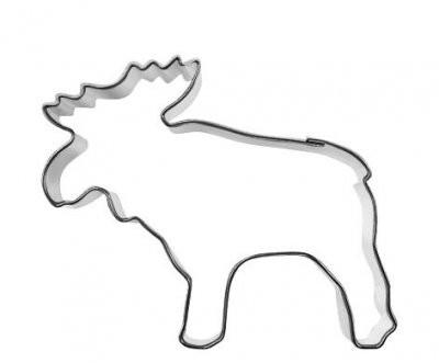 Pepperkakeform elg liten - 6,5 cm