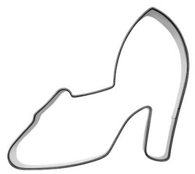Pepperkakeform høyhælede sko - 9 cm