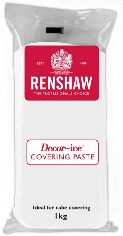 Hvit fondant -Covering Paste- fra Renshaw, 1kg