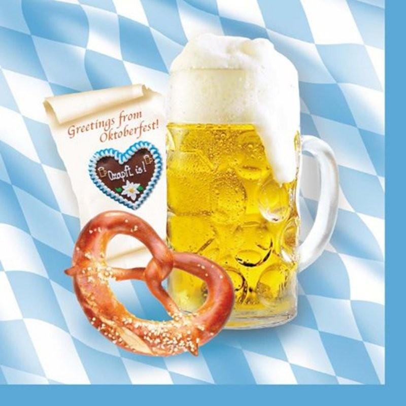 Bayern bavaria servietter 20stk (greetings from oktoberfest)