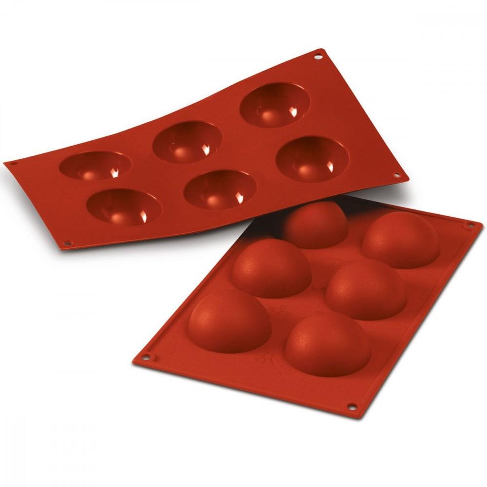 Silikomart halvkuleformer i silikon, Ø 6cm