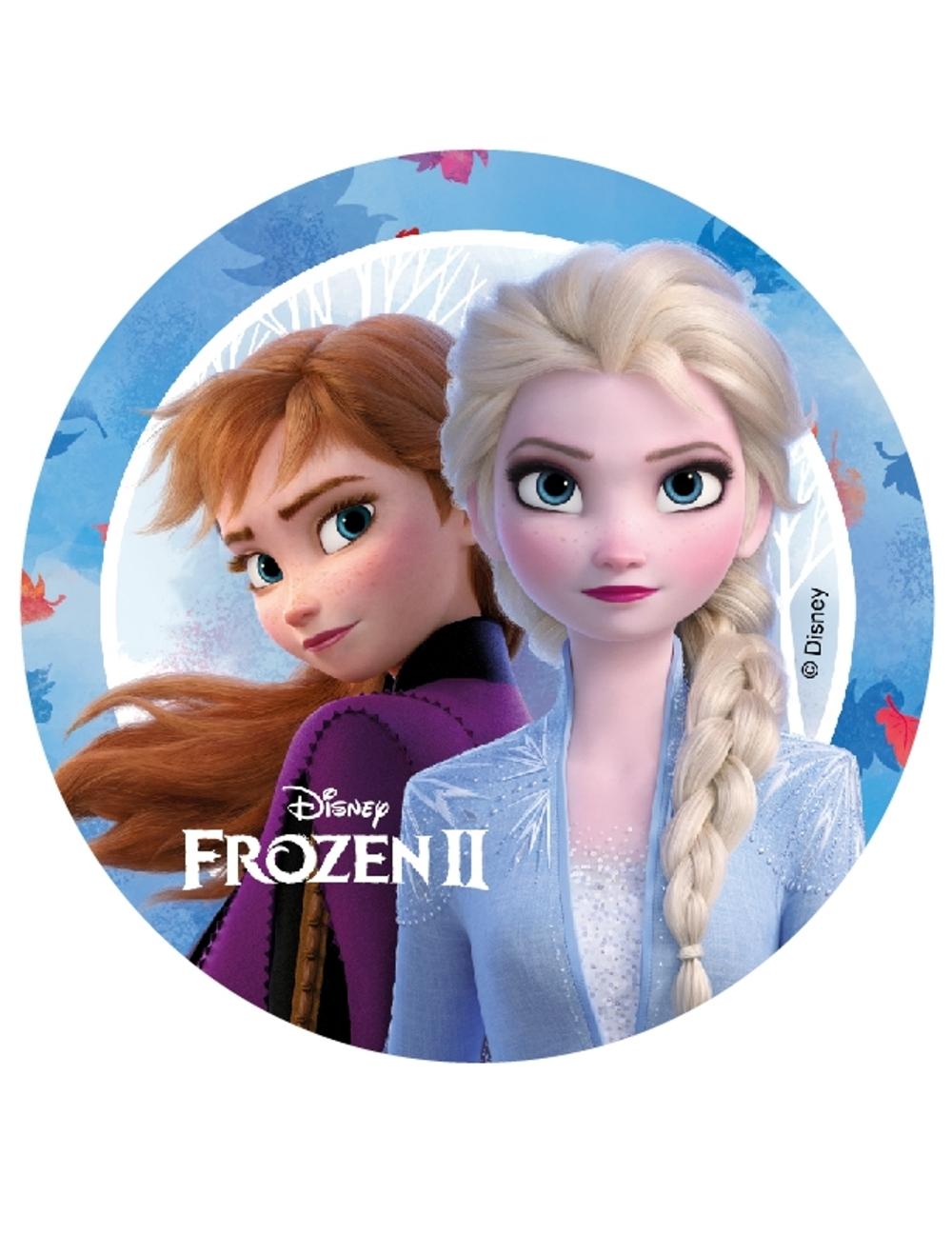 Kakebilde Disney´s Frost 2 -14cm- Elsa og Anna, versjon 1