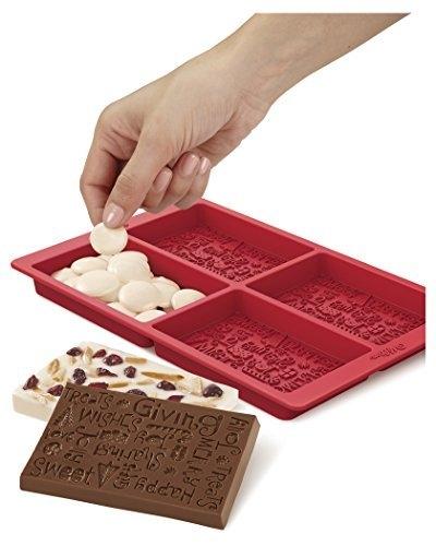 Wilton Silikonform for sjokoladeplater, Juletema, 4 hulrom