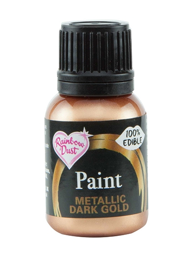 Spiselig Maling Metallic Dark Gold 25ml