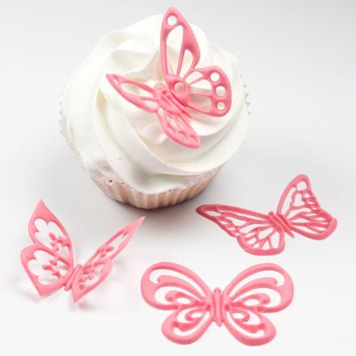 JEM Fantasi Sommerfugl Cupcake Top 4 deler