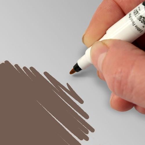 Food Art Pen spiselig tusj - Mørk sjokolade