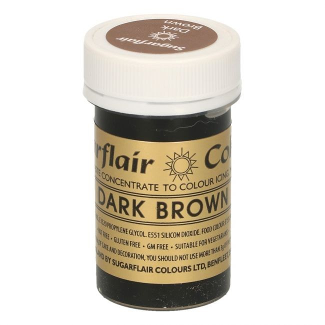 Sugarflair pastafarge Dark Brown, 25g