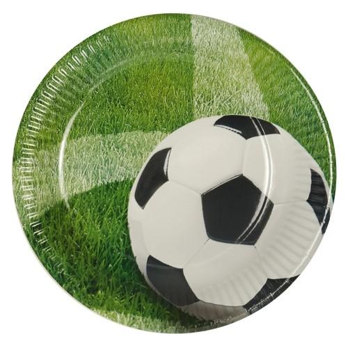 Papptallerken -Fotball- 23cm pk/10