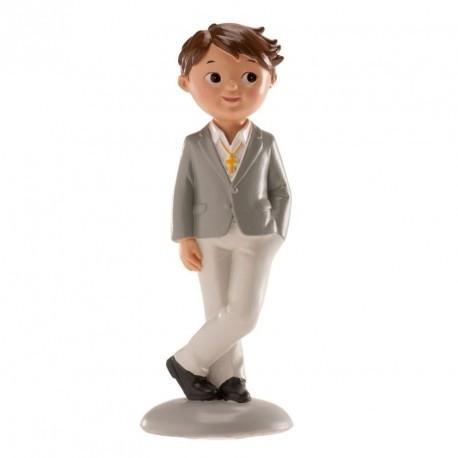 Kaketopp - Gutt grå skjorte - 15cm