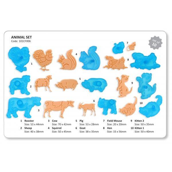 Utstikkersett Dyr, 10 deler