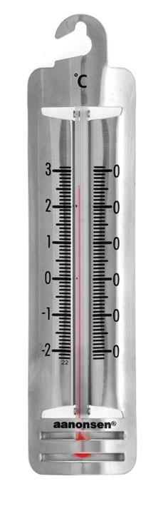 Termometer for kjøleskap i rustfritt stål