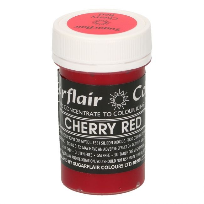 Sugarflair pastafarge Cherry Red, 25g