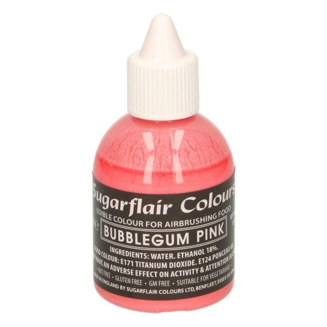 Sugarflair Airbrushfarge -Tyggegummirosa- 60ml