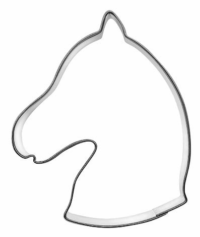 Pepperkakeform hestehode - 8 cm
