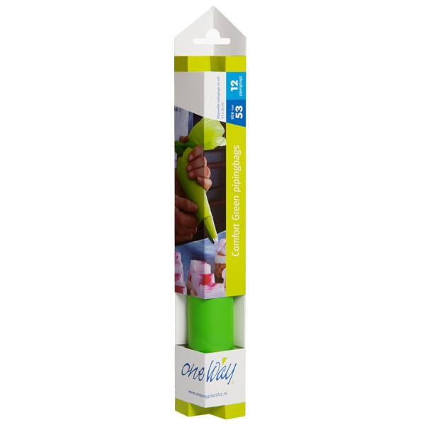 Store engangs sprøyteposer, Comfort Green 53x28, 12 stk