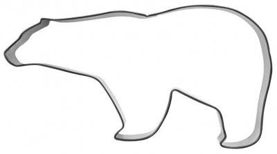 Pepperkakeform isbjørn - 12 cm