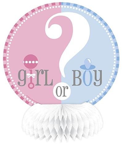 Babyshower gutt/jente bordpynt