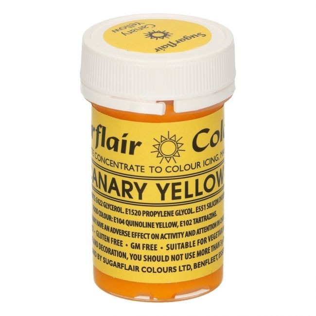 Sugarflair pastafarge Canary Yellow, 25g