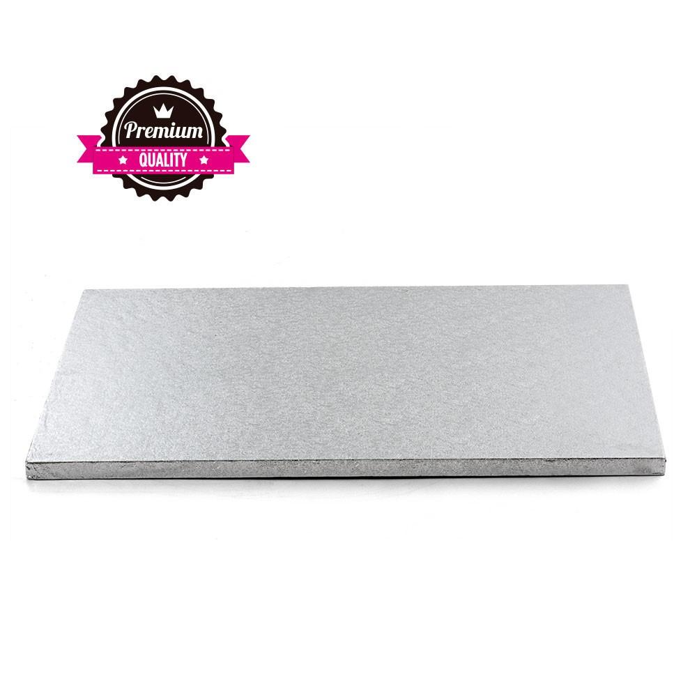 Kake Drum Avlangt Sølv 50x70cm