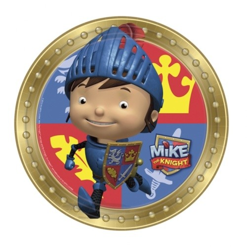Papptallerken ridder -Mike the Knight- 23cm pk/8