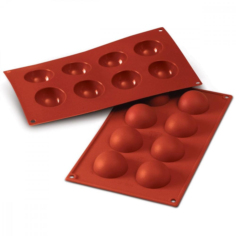 Silikomart halvkuleformer i silikon, Ø 5cm